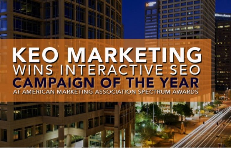 KEO Marketing Wins Interactive SEO Campaign of the Year at American Marketing Association Spectrum Awards
