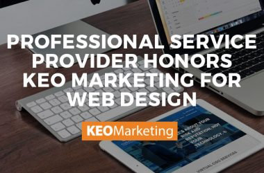 Professional Service Provider Honors KEO Marketing for Web Design