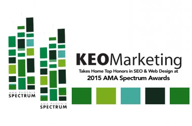 Top Honors for Website Design and SEO Presented to KEO Marketing at 2015 AMA Spectrum Awards