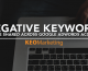 Negative Keywords Can Be Shared Across Google AdWords Accounts