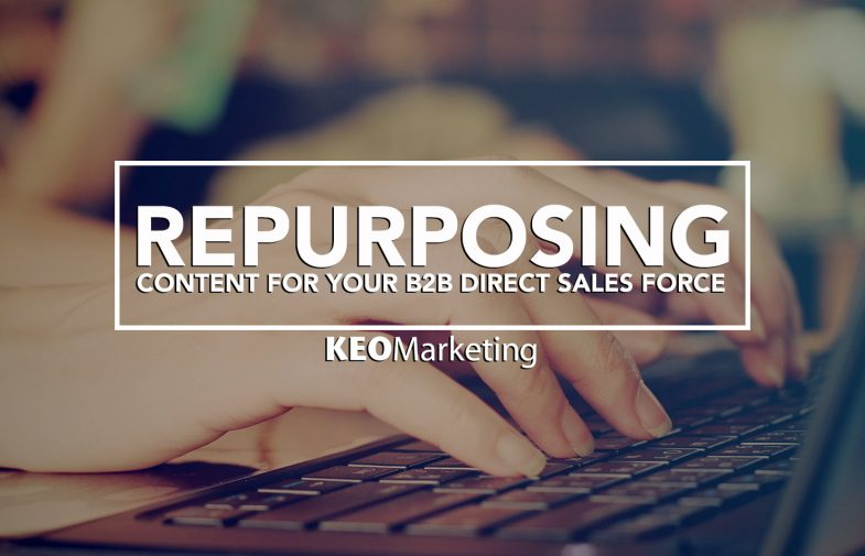 Repurposing Content for Your B2B Direct Sales Force