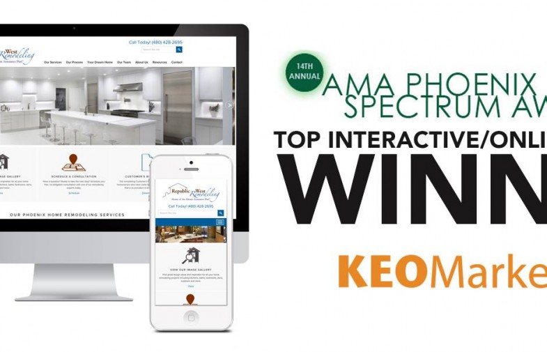 KEO Marketing Wins AMA Spectrum Award For Best Interactive Website