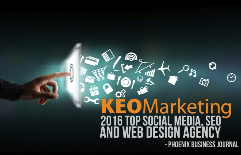 KEO Marketing Recognized for Social Media, SEO and Web Design Excellence by the Phoenix Business Journal