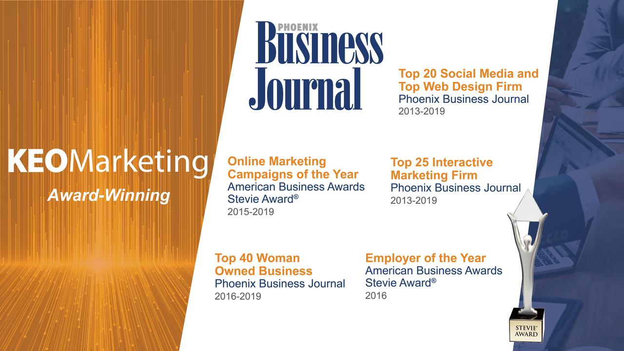 KEO marketing awards