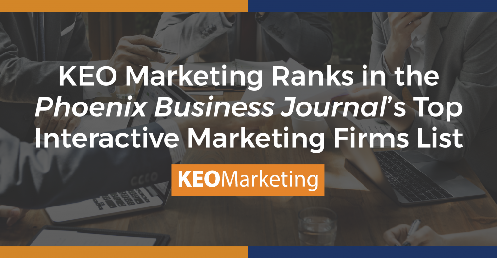 KEO Marketing Ranks as Top Interactive Marketing Firms