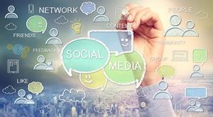 Social media symbols.