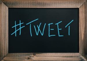 Twitter chalkboard.