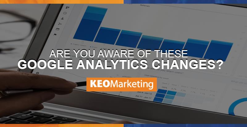 Changes in Google Analytics
